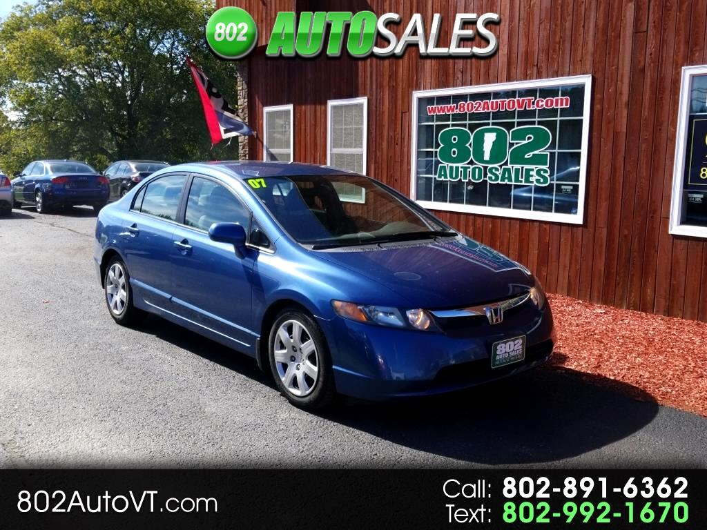 2007 Honda Civic Sdn 4dr MT LX