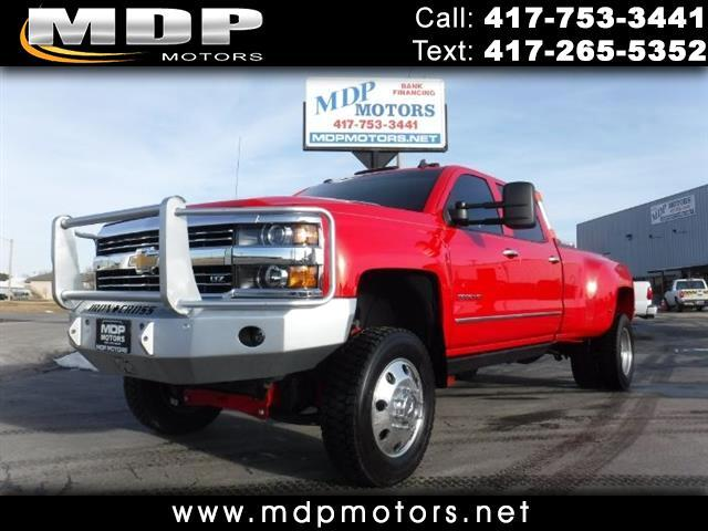 2015 Chevrolet Silverado 3500HD LTZ CREW CAB 4X4 DIESEL LIFTED 19.5 WHEELS