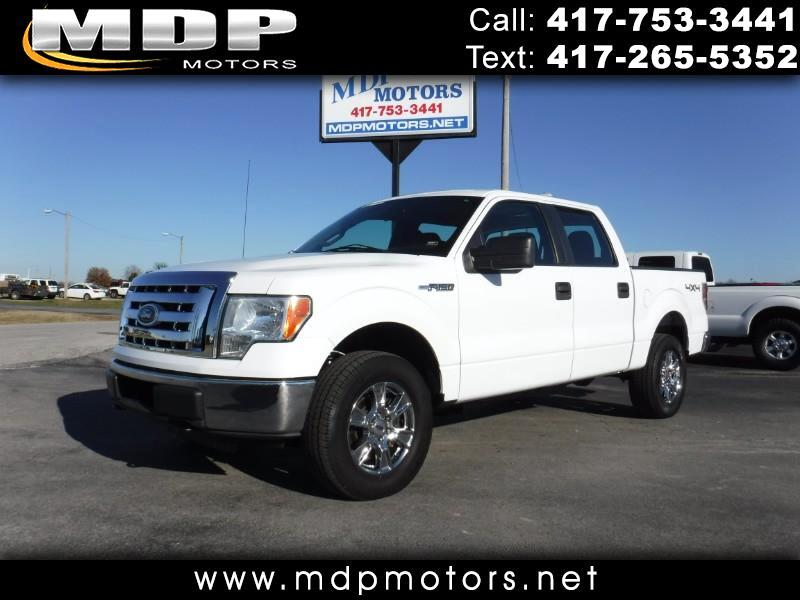 2010 Ford F-150 CREW CAB, SHORT BED, 4X4
