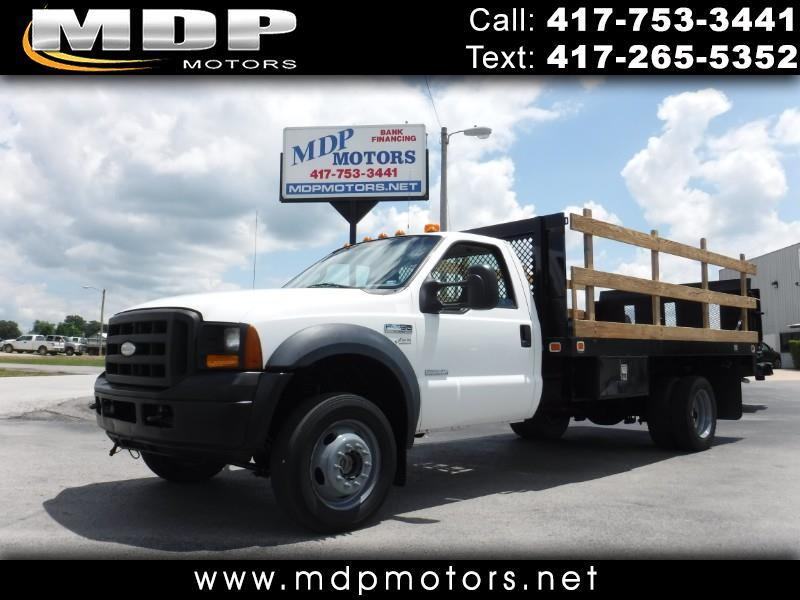2006 Ford F-450 SD REGULAR CAB, 4X4, DIESEL, 14FT FLAT BED