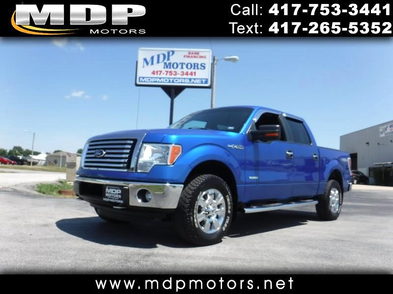 2012 Ford F-150 XLT, SUPER CREW, SHORT BED, 4X4. ECOBOOST