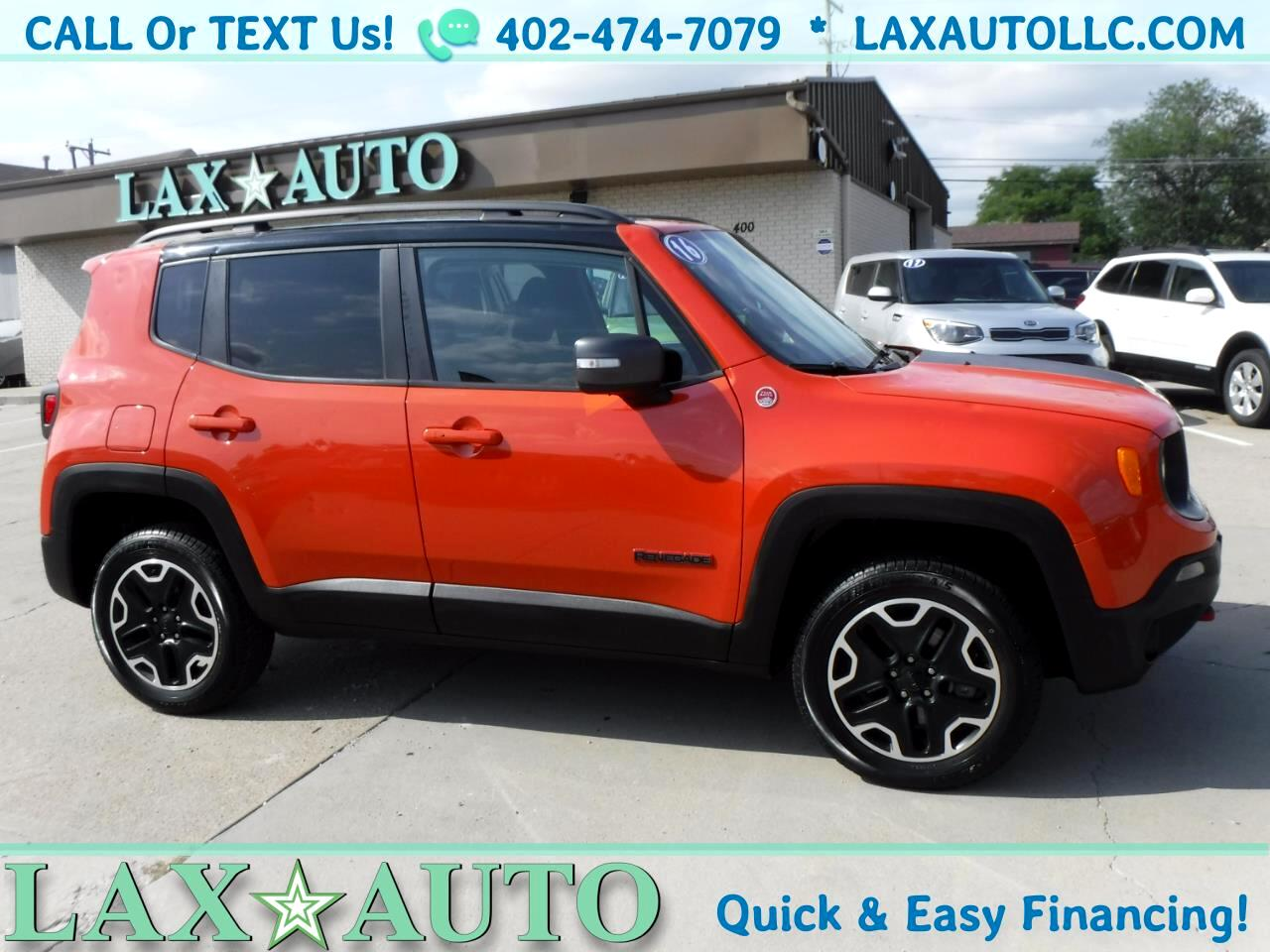 2016 Jeep Renegade Trailhawk 4X4 * 54k miles *Orange/Black*