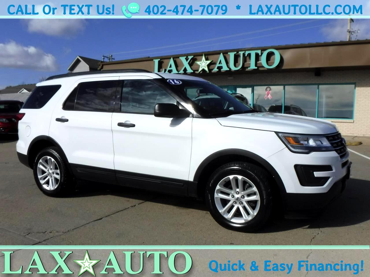 2016 Ford Explorer 4WD * 3rd Row Seat! * 1-Owner Carfax! *White*