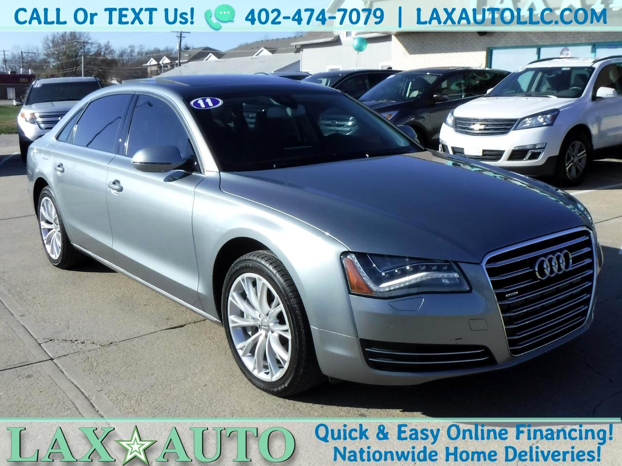 2011 Audi A8 L Quattro AWD * 44k Miles! Navi! Panorama Roof!