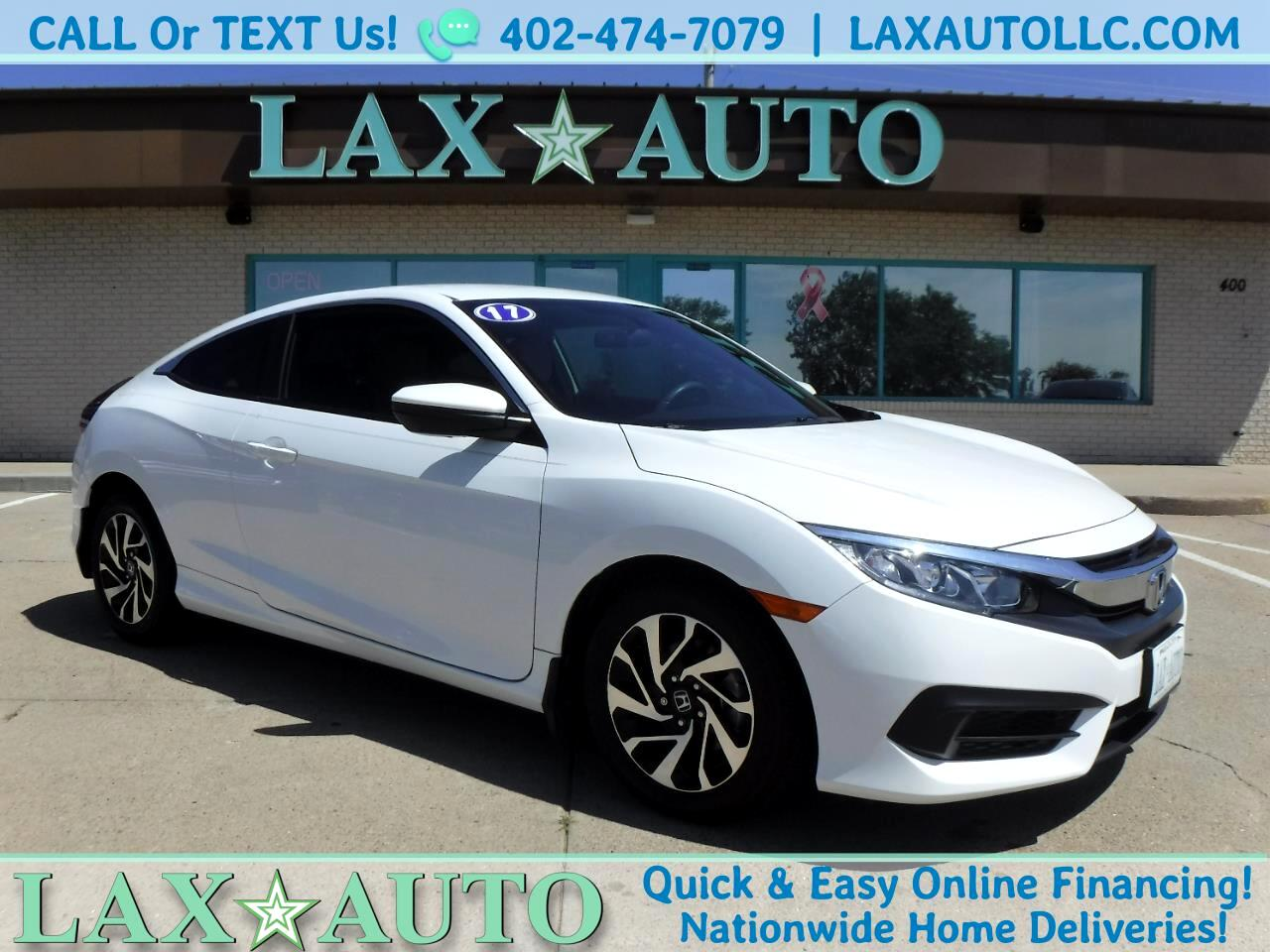 2017 Honda Civic LX Sport Coupe w/ Only 19k Miles!