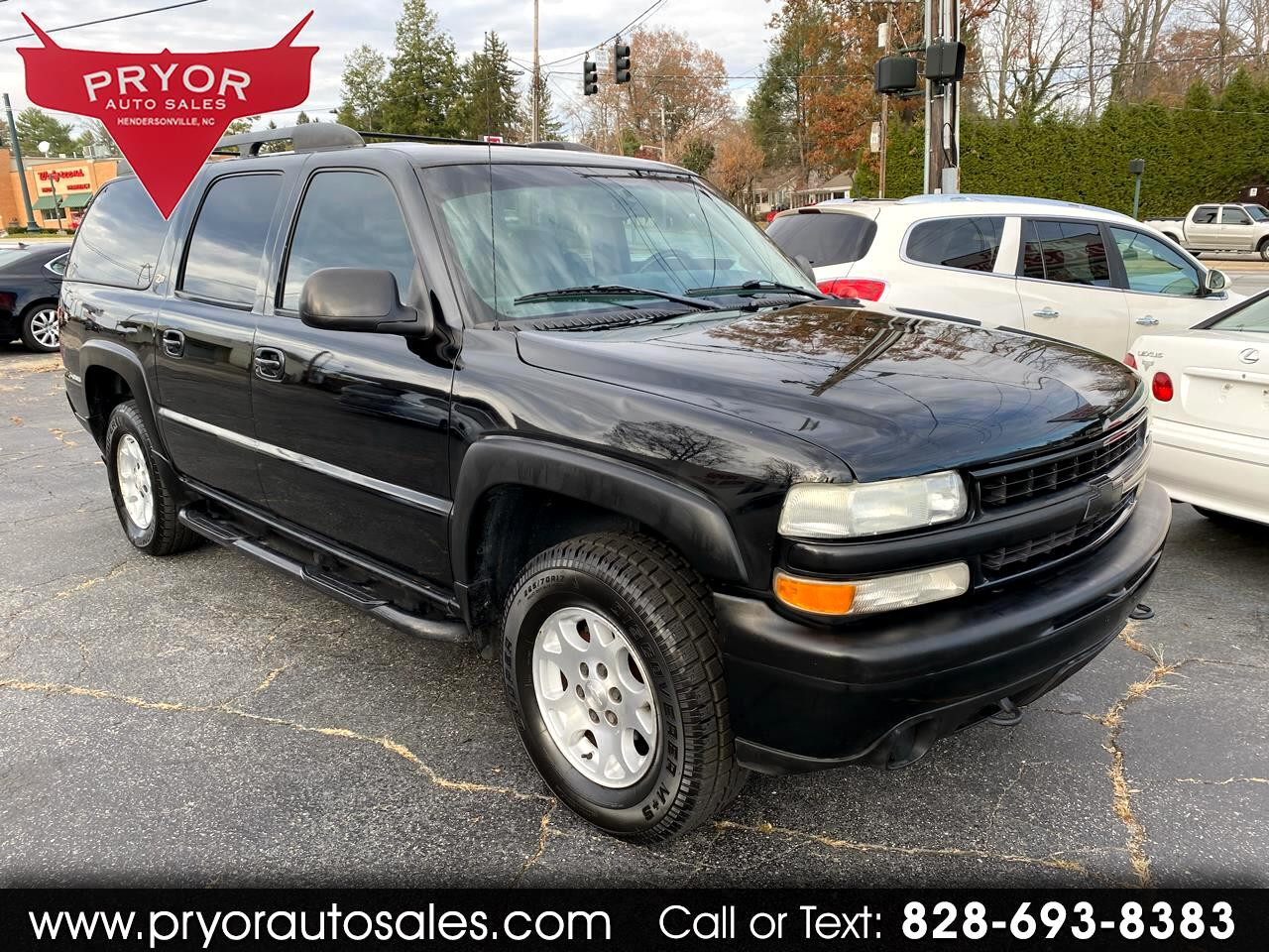 used 2003 chevrolet suburban 1500 4wd for sale in hendersonville nc 28791 pryor auto sales hendersonville nc 28791 pryor auto sales