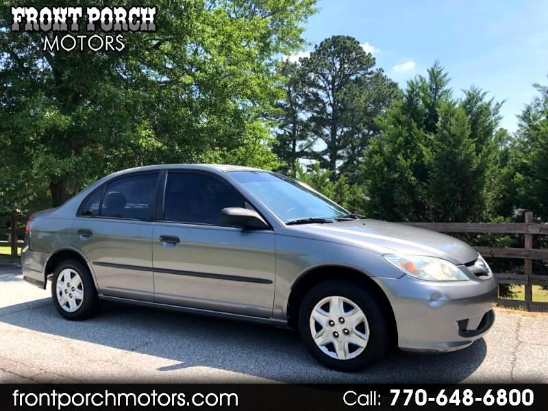 2005 Honda Civic VP Sedan AT w/ Front Side Airbags