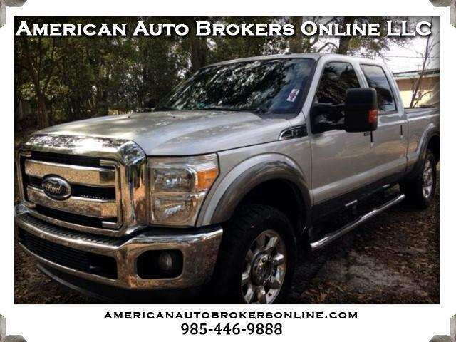 2011 Ford F-250 SD LARIAT CREW CAB 4WD LEATHER ROOF ROLL TOP BED COVE
