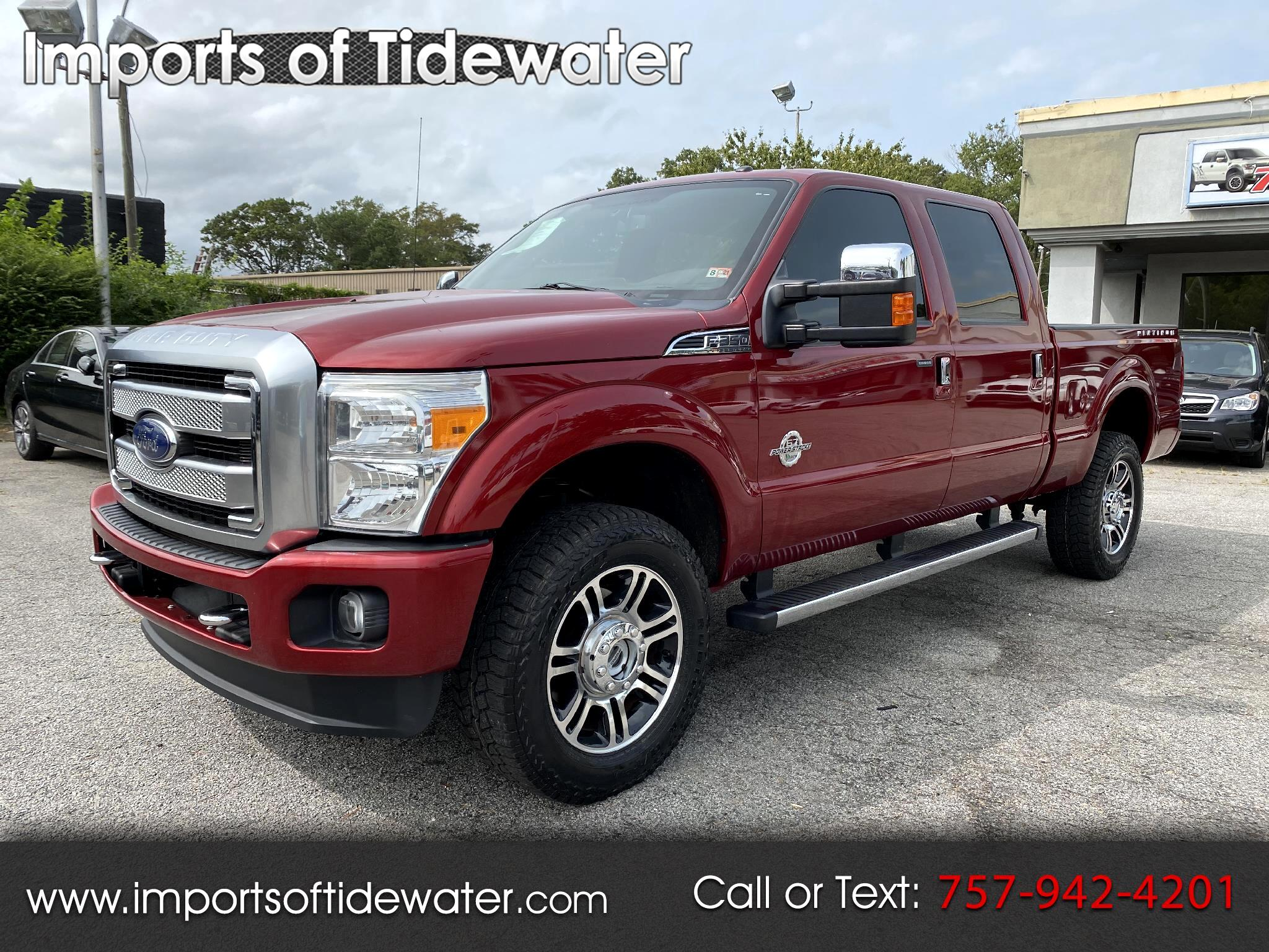 "Ford Super Duty F-350 SRW 4WD Crew Cab 172"" Platinum 2016"