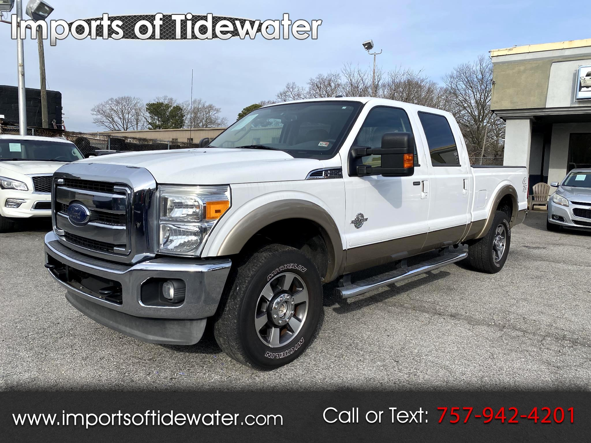 Ford Super Duty F-250 SRW Lariat 4WD Crew Cab 6.75' Box 2013