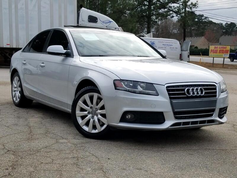 2012 Audi A4 2.0 T Sedan FrontTrak Multitronic