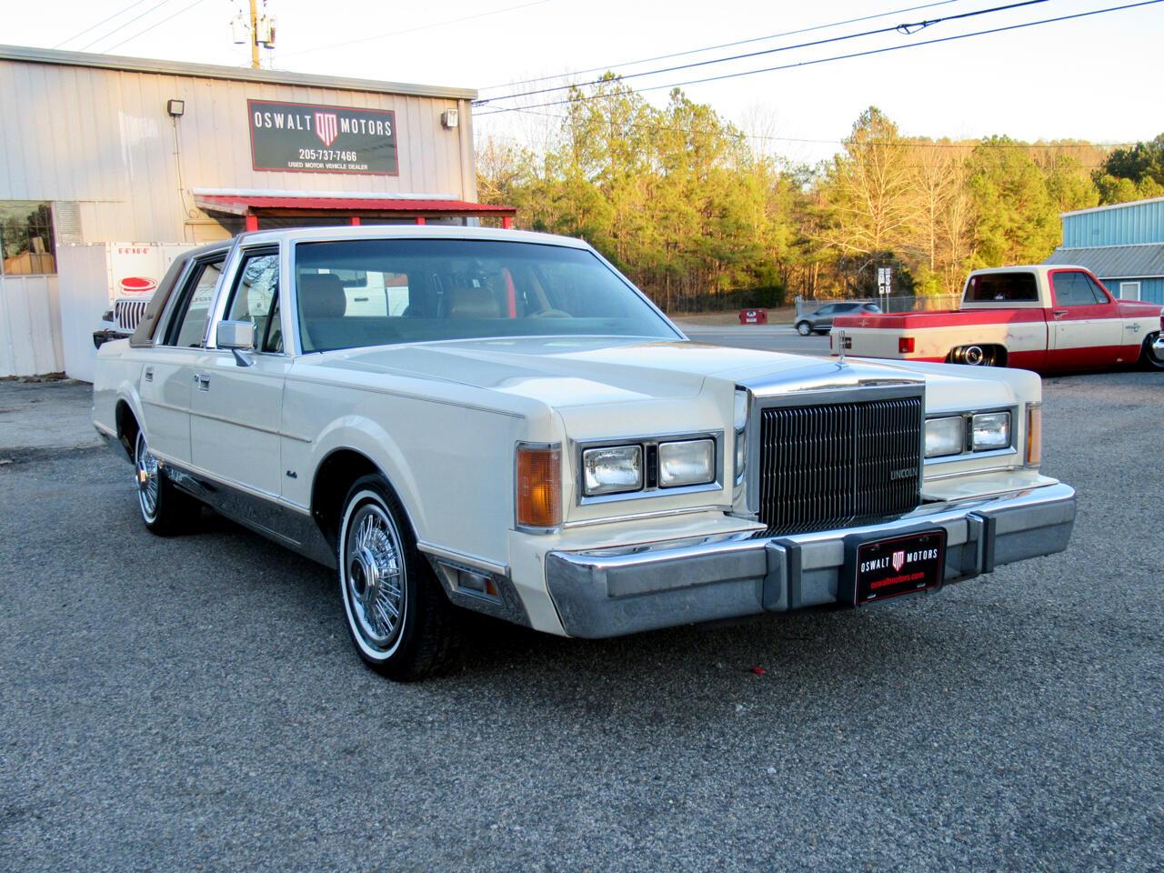 Lincoln Town Car 4dr Sedan Signature 1989