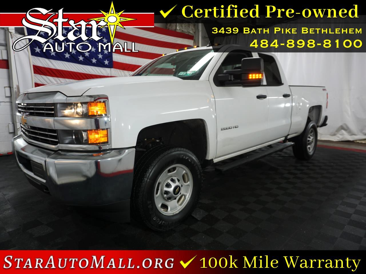 "Chevrolet Silverado 2500HD 4WD Double Cab 144.2"" Work Truck 2018"
