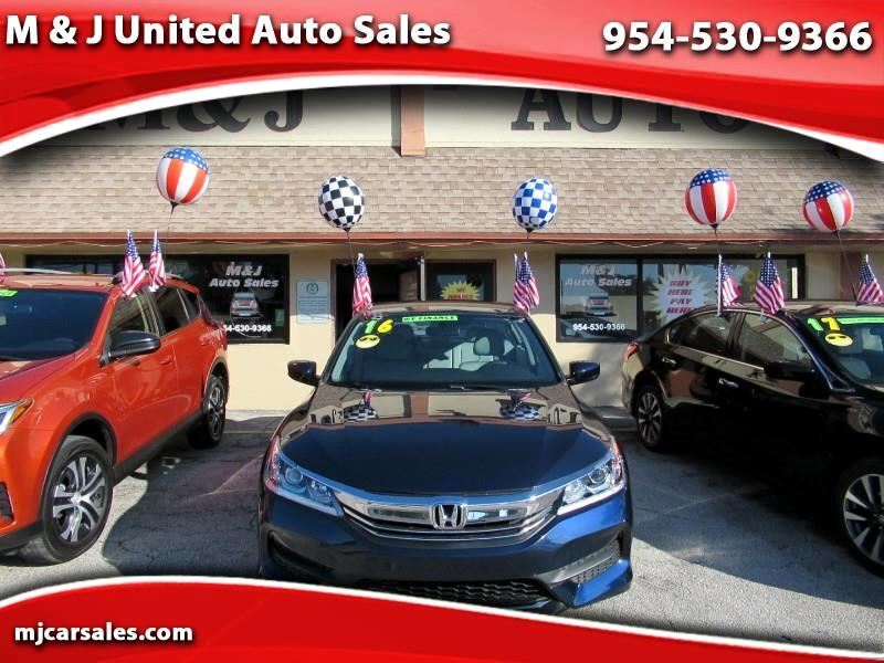 2016 Honda Accord 4dr Sedan LX Auto