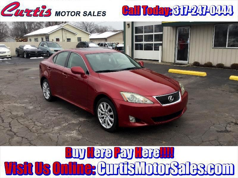 buy here pay here 2006 lexus is is 250 awd for sale in indianapolis in 46241 curtis motor sales. Black Bedroom Furniture Sets. Home Design Ideas