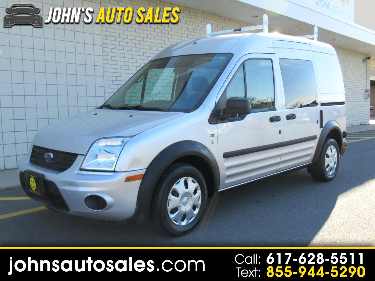 """Ford Transit Connect 114.6"""" XLT w/side & rear door privacy glass 2011"""
