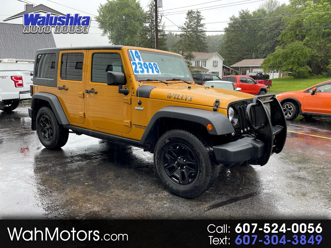 Jeep Wrangler Unlimited 4WD 4dr Willys Wheeler 2014