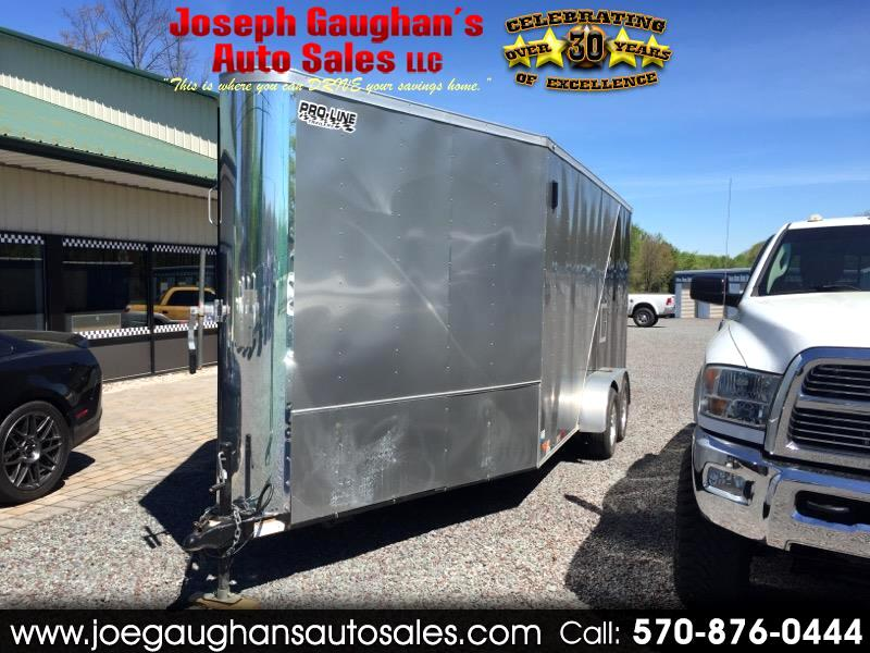 2016 Nex Haul 7 x 16 Enclosed Trailer V-NOSE DRIVE IN DRIVE OUT