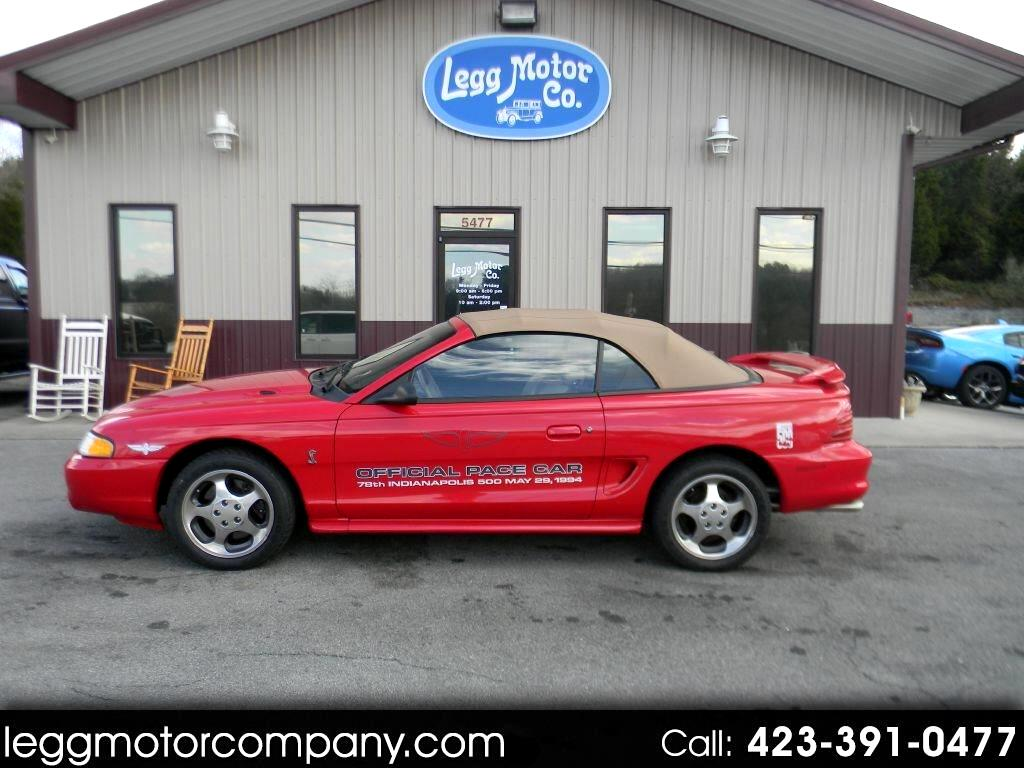 1994 Ford Mustang Cobra Convertible Indy Pace Car Edition