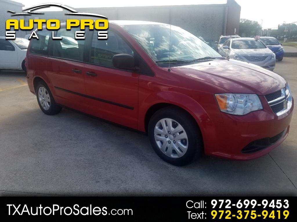2014 Dodge Grand Caravan 4dr Wgn American Value Pkg