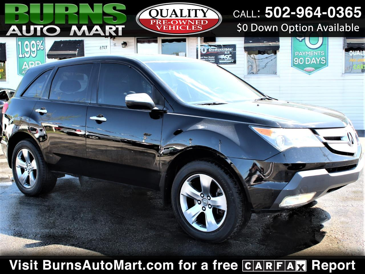 Acura MDX AWD 4dr Sport/Entertainment Pkg 2009