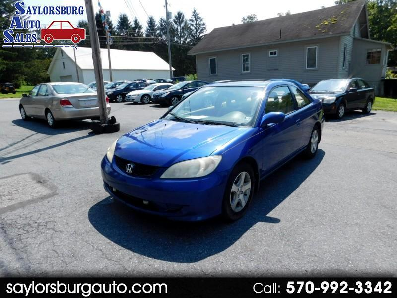 2004 Honda Civic EX Coupe with Front Side Airbags