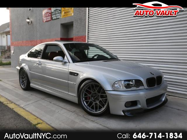 2004 BMW M3 Coupe Silver on Red 6 Speed Manual