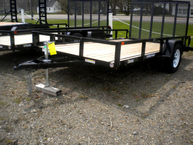 2018 Sure-Trac Tube Top Utility Trailer 7X14 WITH SPRING ASSIST RAMP   3K