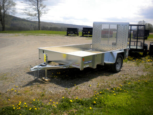 2018 Sure-Trac Galvanized High Side Utility 6X10 WITH SPRING ASSIST RAMP   3K