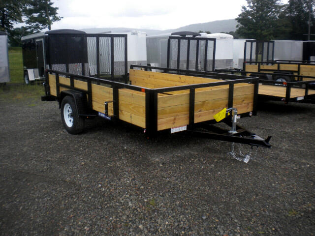2019 Sure-Trac 3 Board Tube Top Utility Trailer 7X12 TUBE TOP 3 BOARD WITH SPRING ASSIST RAMP