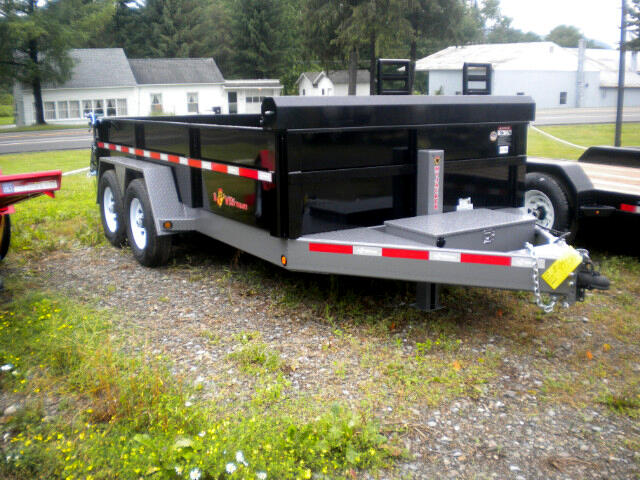 2018 BWise HD Dump Trailer 7X14 LP DUMP WITH RAMPS AND HYD. JACK   15400# GVW