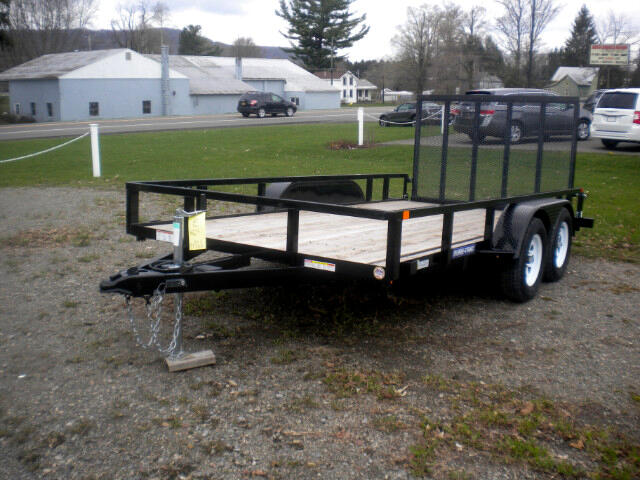 2018 Sure-Trac Tube Top Utility Trailer 7X14 UTILITY WITH SPRING ASSIST RAMP  7K