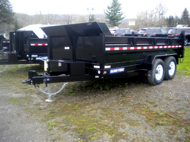 "2019 Sure-Trac HD Low Profile Dump - Scissor 82""X12' SCISSOR DUMP WITH RAMPS   12K"