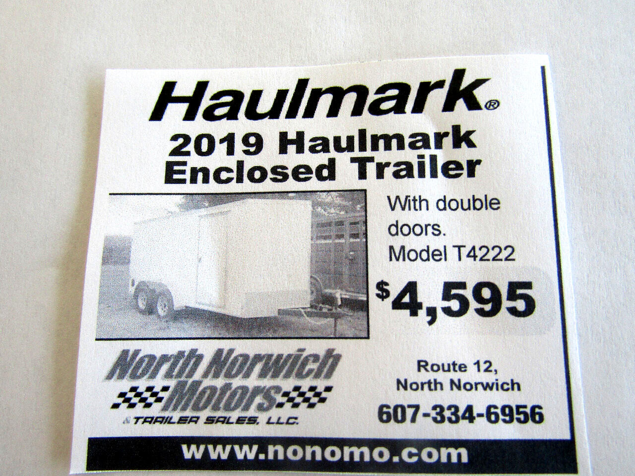2019 Haulmark Enclosed Trailer HMVG714T-3000 SERIES WITH DOUBLE DOORS