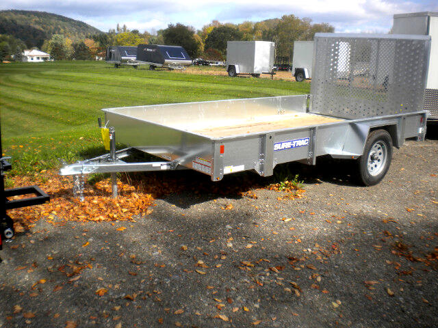 2019 Sure-Trac Galvanized High Side Utility 7X12 GALVANIZED    3K