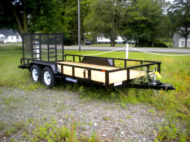 2019 Sure-Trac Tube Top Utility Trailer 7X16 WITH LADDER TYPE SPRING ASSST RAMP  7K