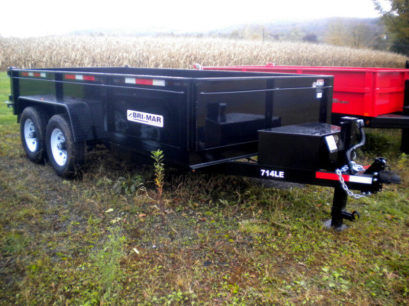 2019 Bri-Mar Low Profile Dump Trailer 7X14 LP-LE  TWIN CYLINDER DUMP TRAILER  14K
