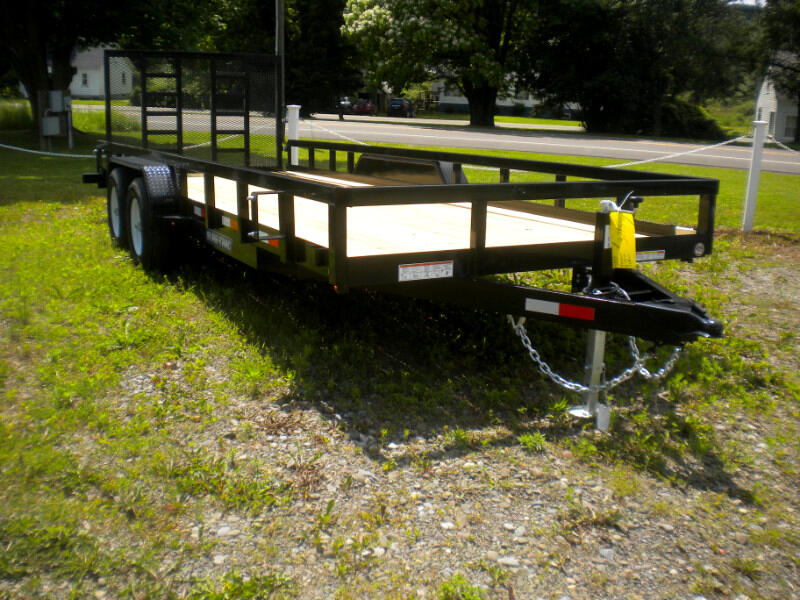 2019 Sure-Trac Tube Top Utility Trailer 7X20 WITH SPRING ASSIST REINFORCED LADDER GATE   1