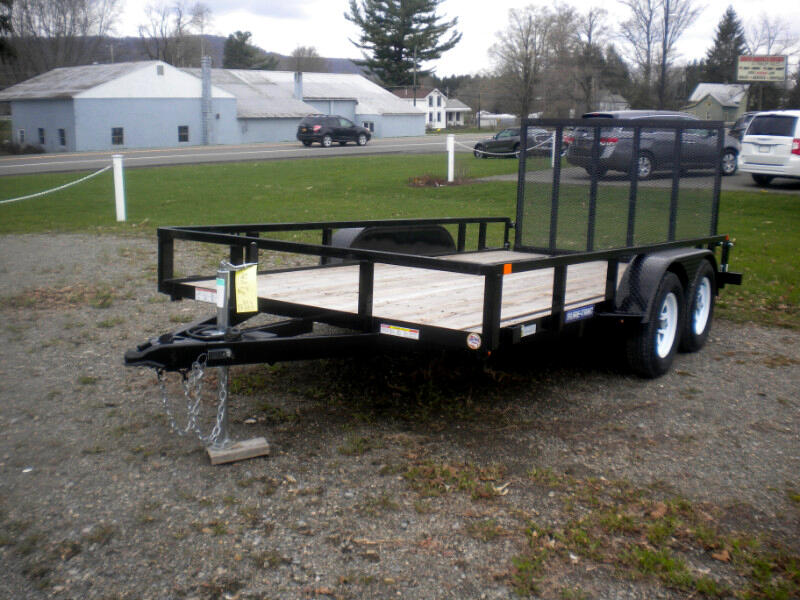 2019 Sure-Trac Tube Top Utility Trailer 7X16 WITH SPRING ASSIST RAMP   7K