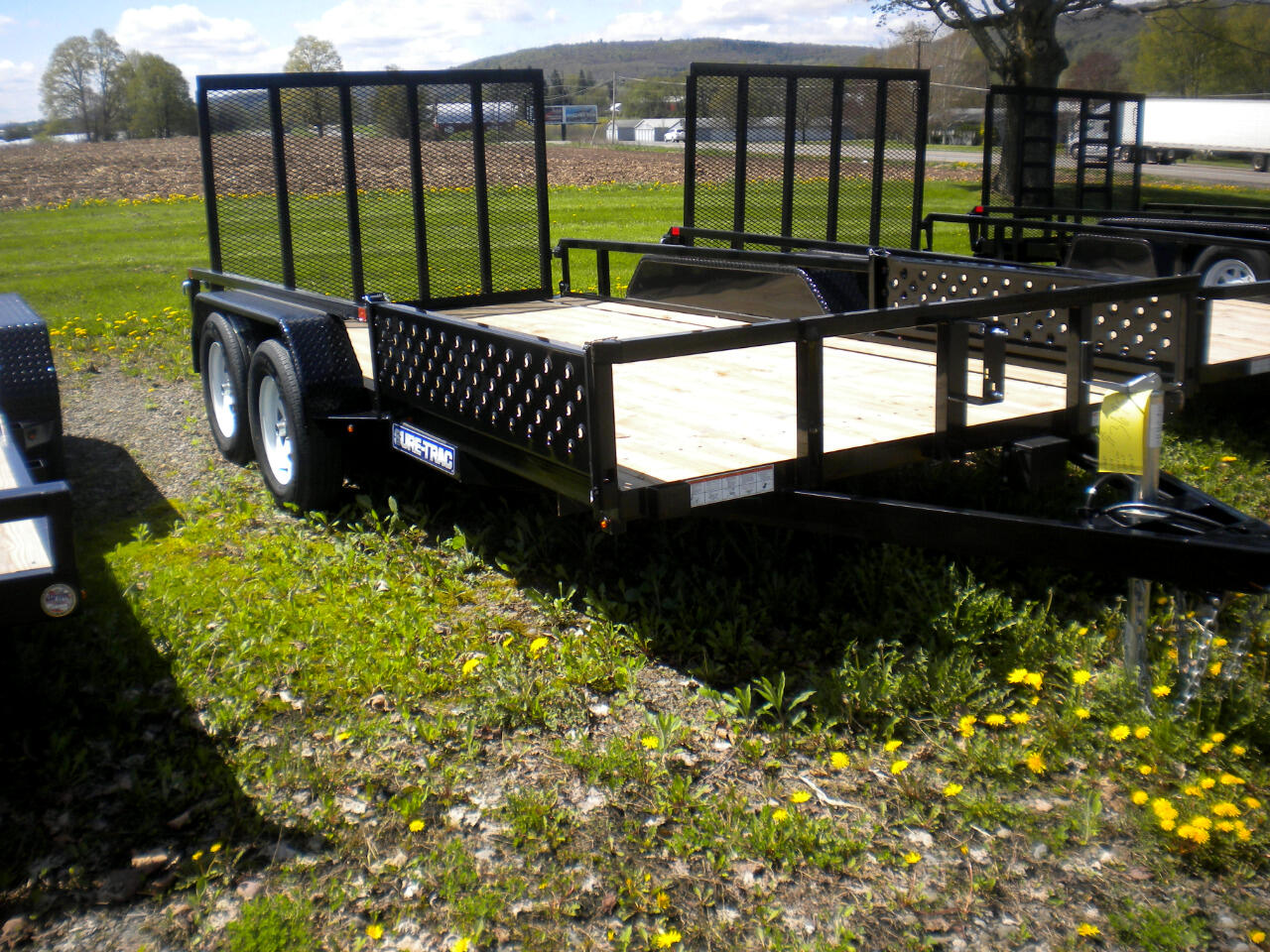 2019 Sure-Trac Tube Top Utility Trailer 7X14 WITH SPRING ASSIST RAMP   7K