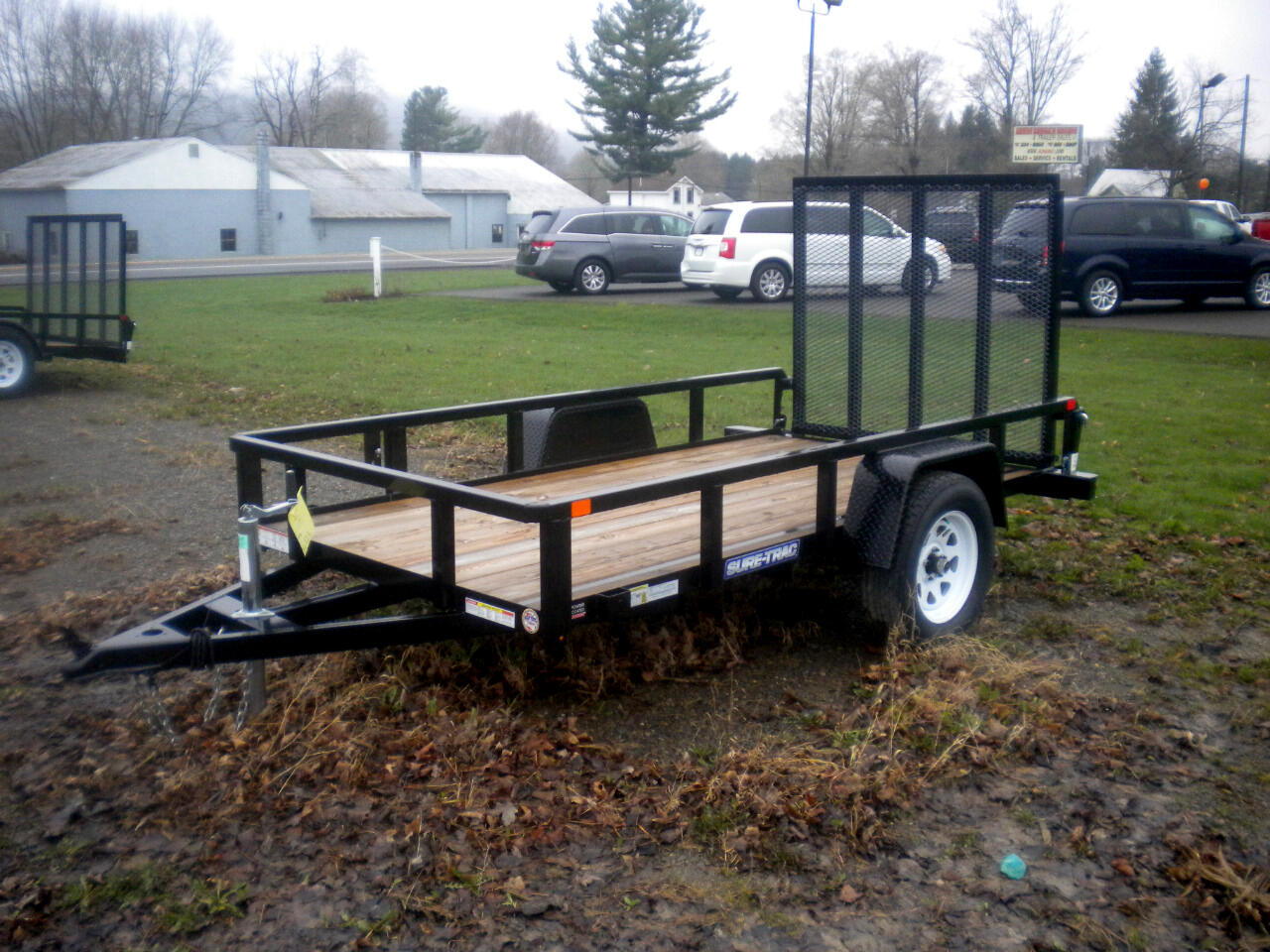 2019 Sure-Trac Tube Top Utility Trailer 5X8 UTILITY WITH SPRING ASSIST RAMP   3K