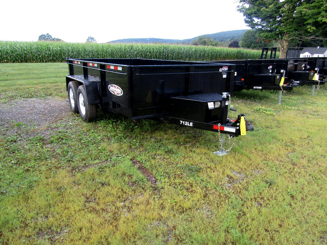 2020 Bri-Mar Low Profile Dump Trailer 7X12 WITH RAMPS AND TARP   12K
