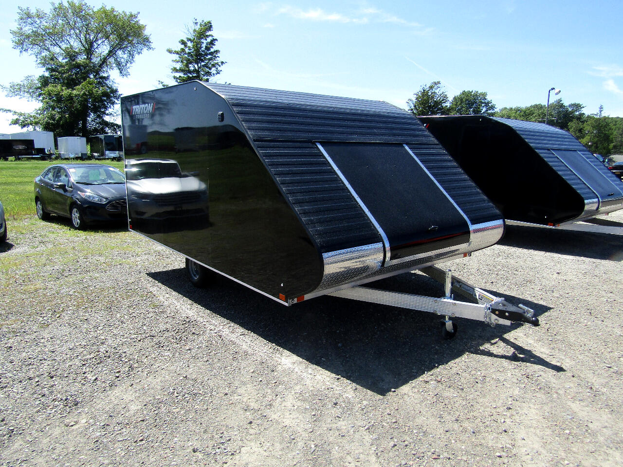 2020 Triton TC128 12FT HYBRID SNOWMOBILE TRAILER WITH RAMP