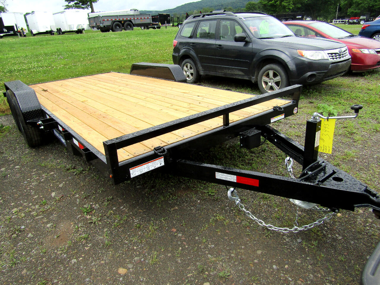 2020 Sure-Trac C-Channel Car Hauler 7X18 WOOD DECK CAR HAULER   10K