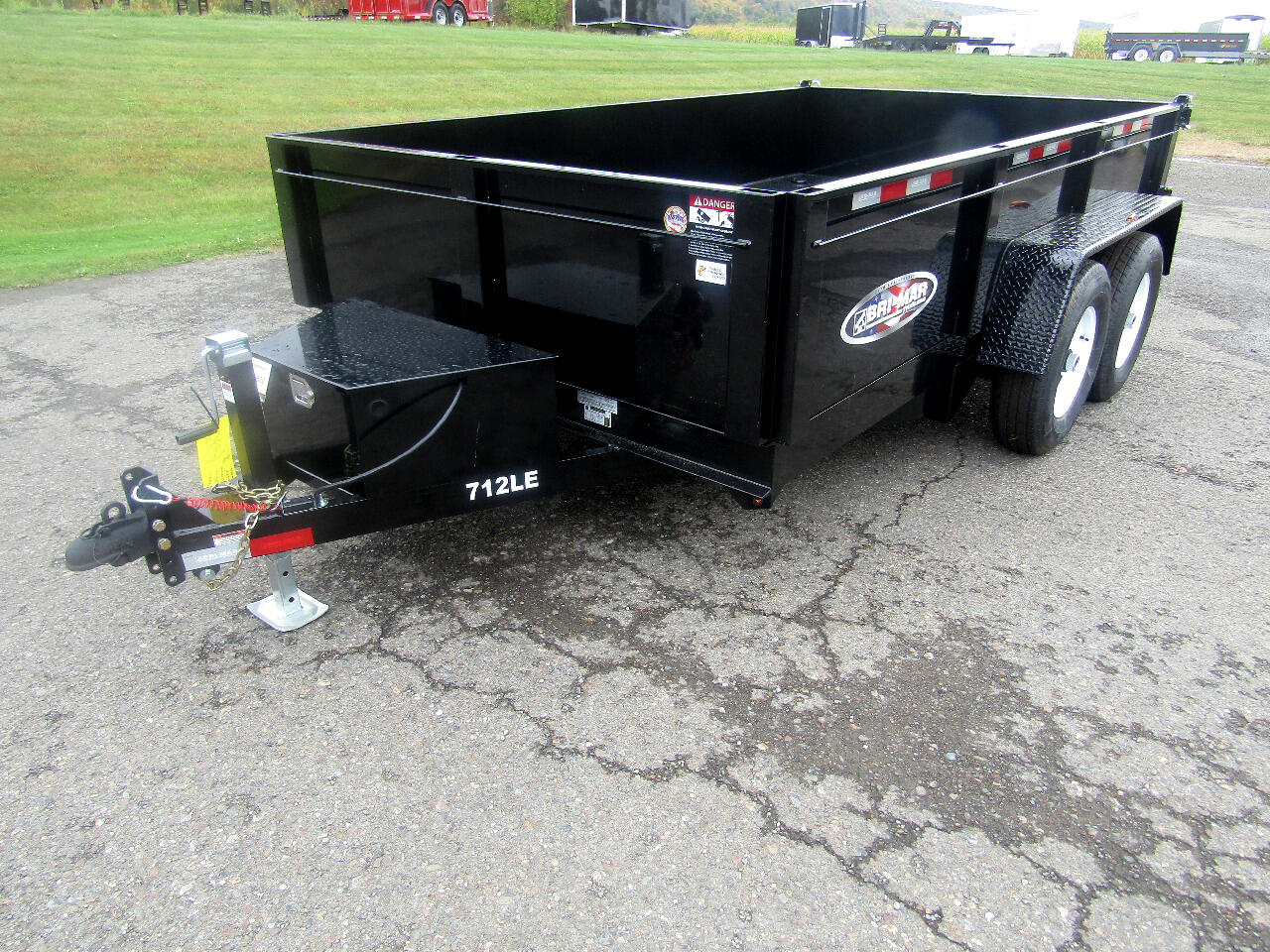 2020 Bri-Mar Low Profile Dump Trailer DT712LP-LE 7X12 DUMP WITH RAMPS    12K