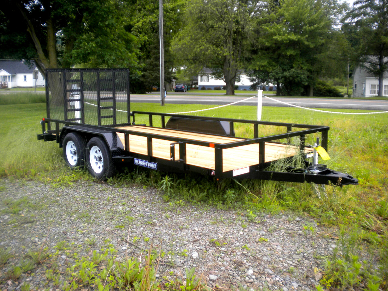 2020 Sure-Trac Tube Top Utility Trailer 7X16 WITH SPRING ASSIST LADDER STYLE REINFORCED GA