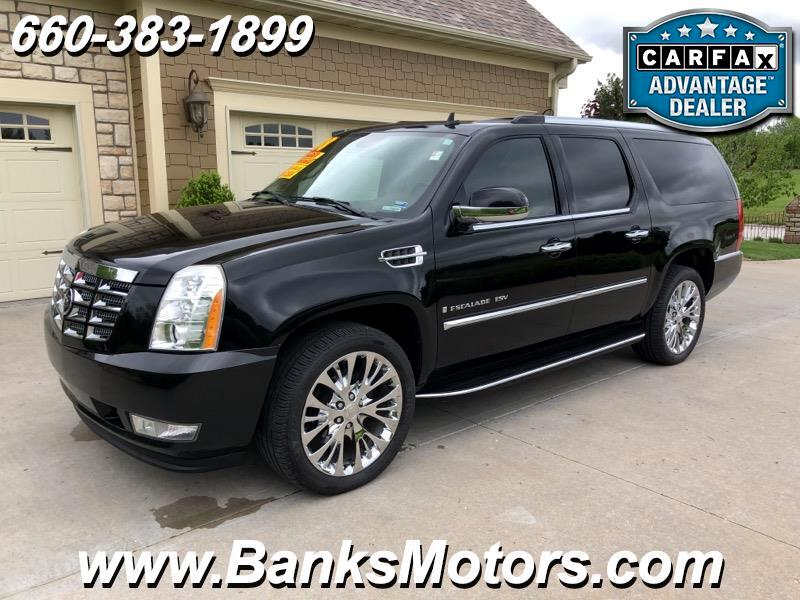 2008 Cadillac Escalade ESV AWD Luxury Heated Cooled Leather DVD Nav
