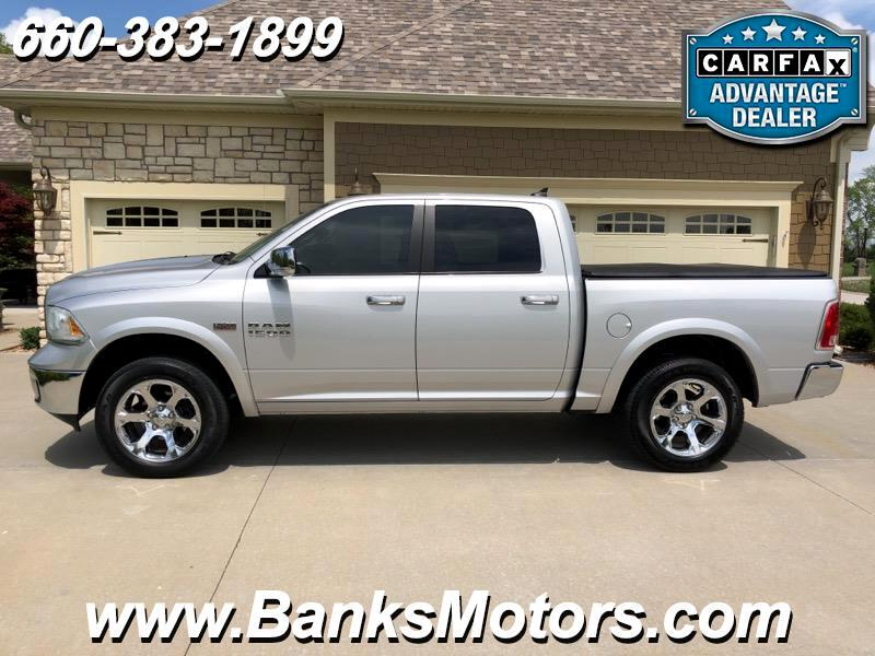 2015 RAM 1500 Laramie Crew Cab 4WD Heated Cooled Leather Nav Sun
