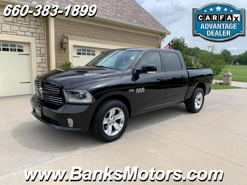 2015 RAM 1500 Crew Cab Sport 4WD Heated Cooled Leather NAV