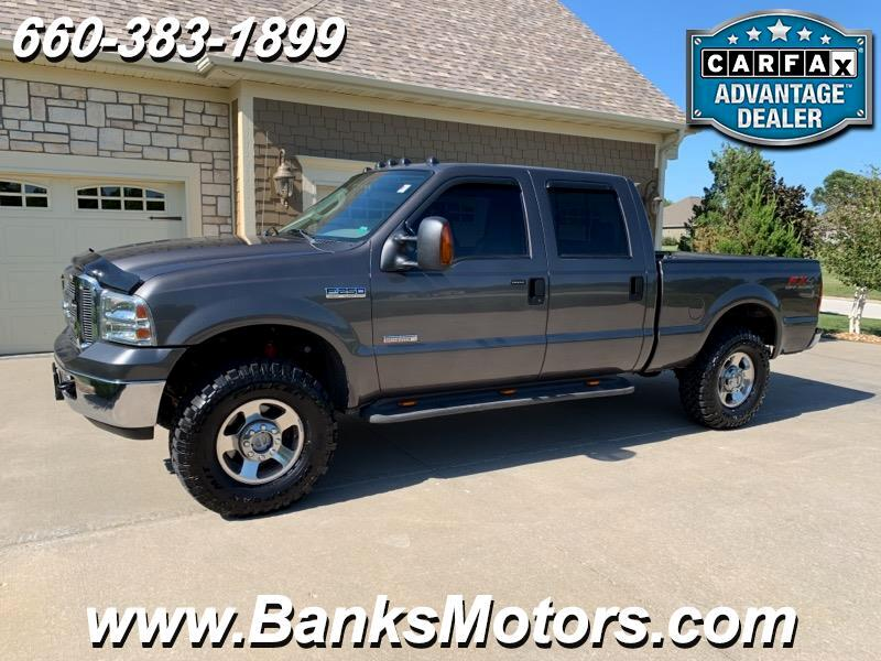 2005 Ford F250 Crew Cab Lariat 4WD Leather Diesel